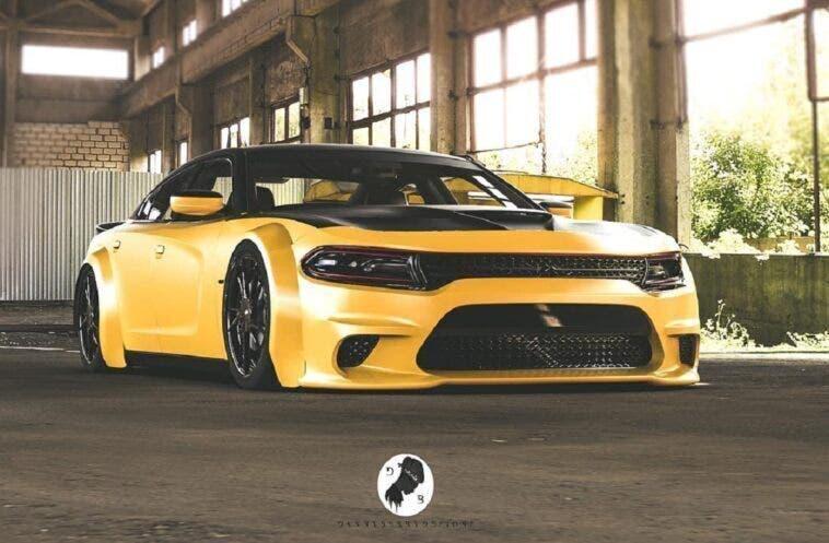 Dodge Charger SRT Hellcat Widebody render