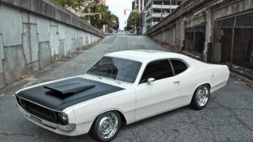 Dodge Demon 1972 restomod render