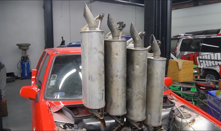 Fiat Uno Garage 54 quattro scarichi