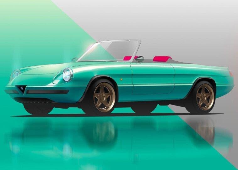 Alfa Romeo Duetto Spider Garage Italia render