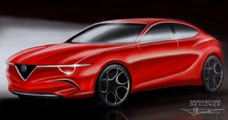 Alfa Romeo Giulietta BEV render