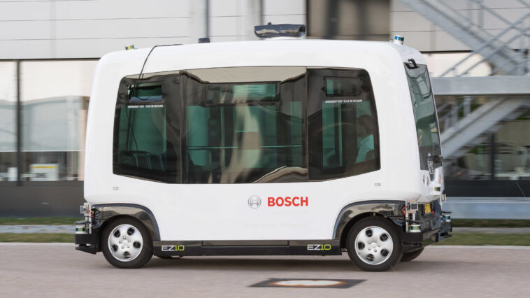 Bosch shuttle guida autonoma