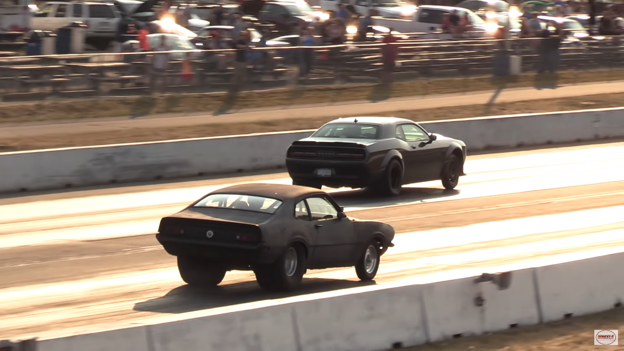 Dodge Challenger SRT Demon vs old school muscle car