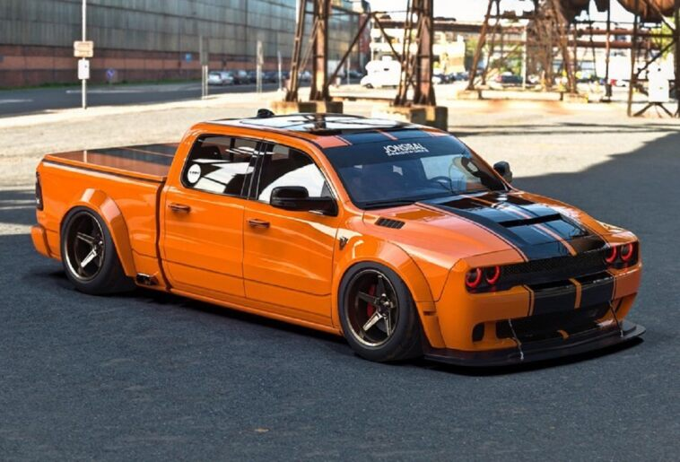 Dodge Challenger SRT Hellcat pick-up render