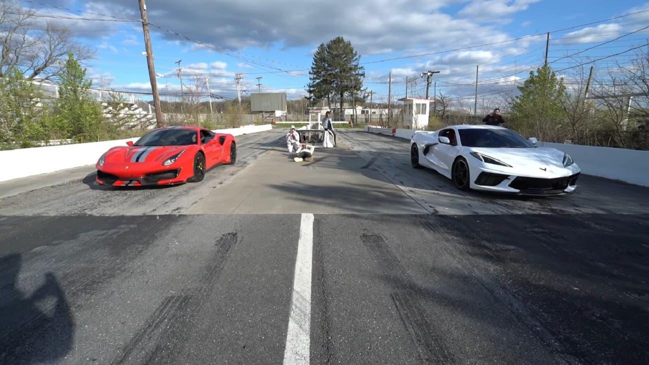Ferrari 488 Pista vs Chevrolet Corvette C8 Dobre Cars