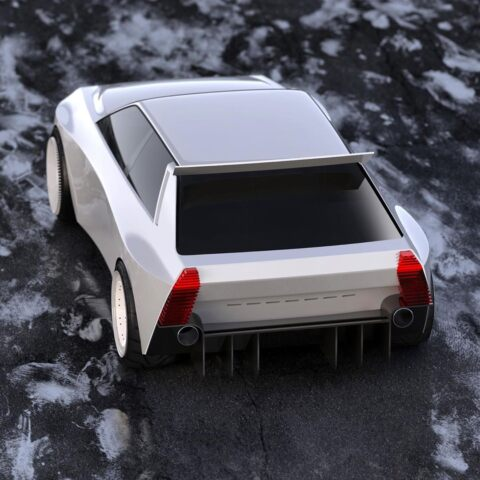 Lancia Delta HF Integrale concept render