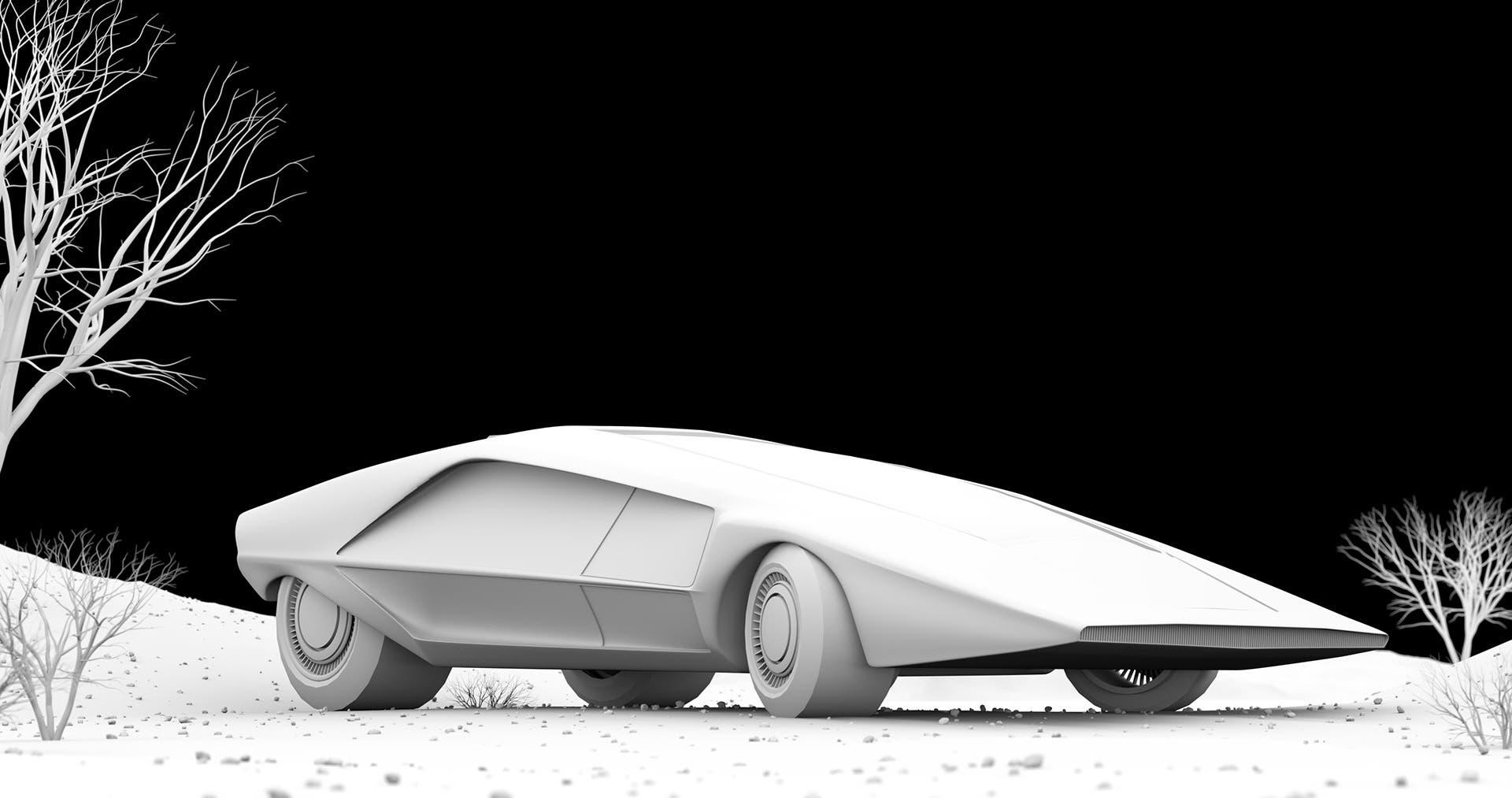 Lancia Stratos HZ Zero render
