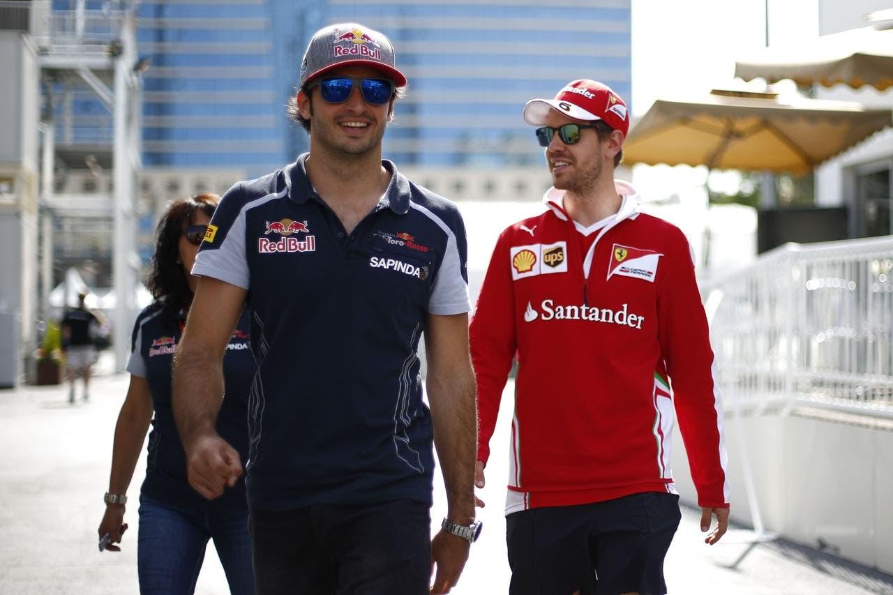 Vettel e Sainz