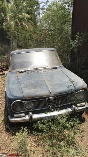 Alfa Romeo Giulia 1600 Ti barn find