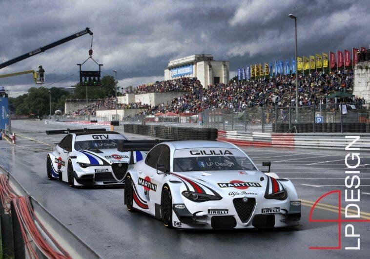 Alfa Romeo Giulia e GTV DTM LP Design render