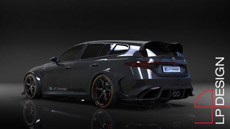 Alfa Romeo Giulia Sport Wagon GTAm render
