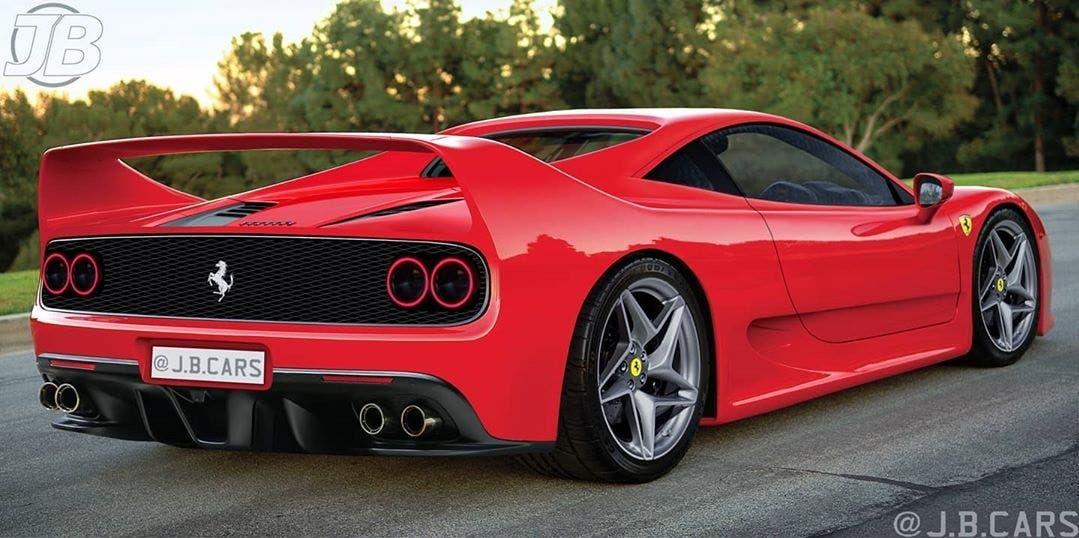 Ferrari F50 moderna render