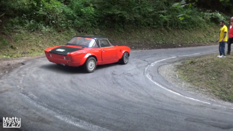Fiat 124 Abarth 1974 drifting