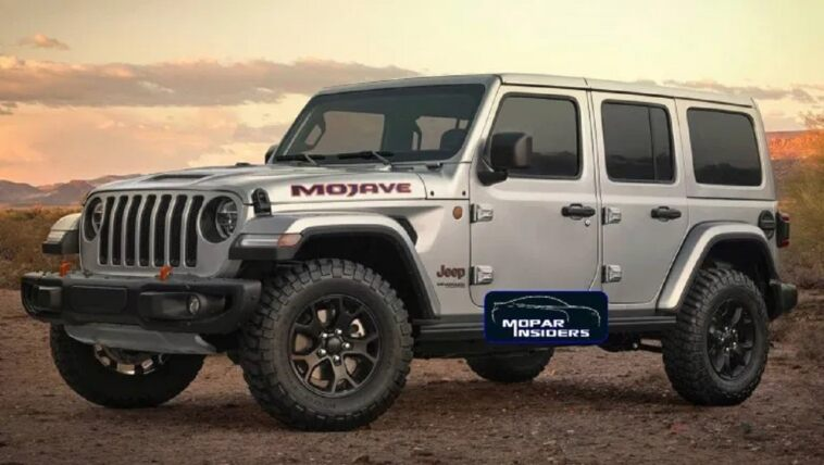 Jeep Wrangler Mojave render
