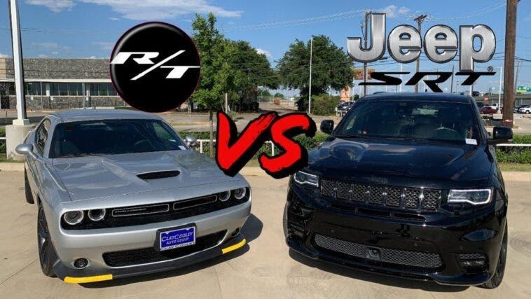 Dodge Challenger R/T vs Jeep Grand Cherokee SRT drag race