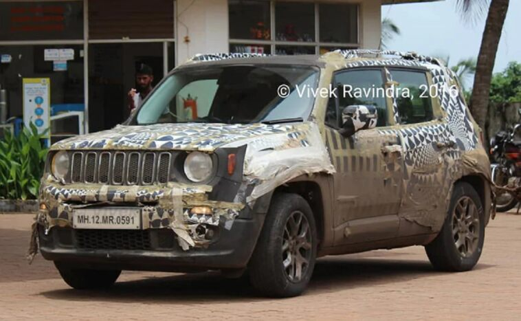 Jeep Renegade foto spia India