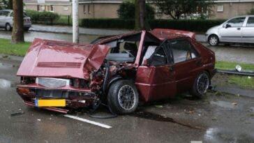 Lancia Delta HF Integrale distrutta incidente