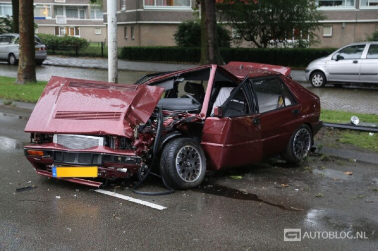 Lancia Delta HF Integrale distrutta incidente