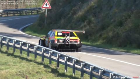 Lancia Delta HF Integrale hillclimb