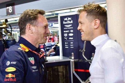 Vettel e Horner
