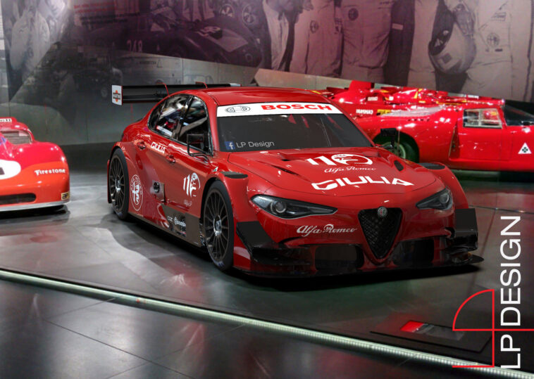 Alfa Romeo Giulia DTM concept render