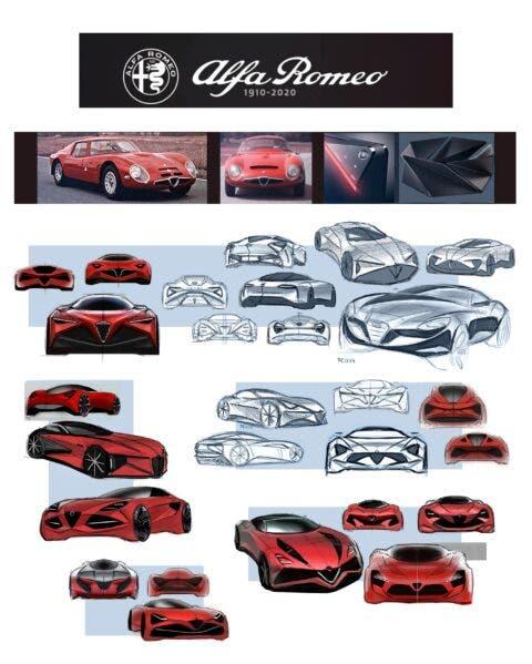 Alfa Romeo Giulia TZ4 render