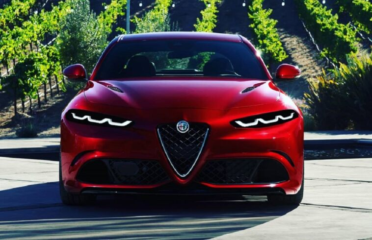 Alfa Romeo Giulia fari Tonale render