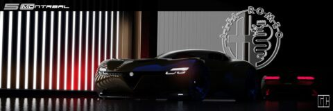 Alfa Romeo Montreal nuova generazione render