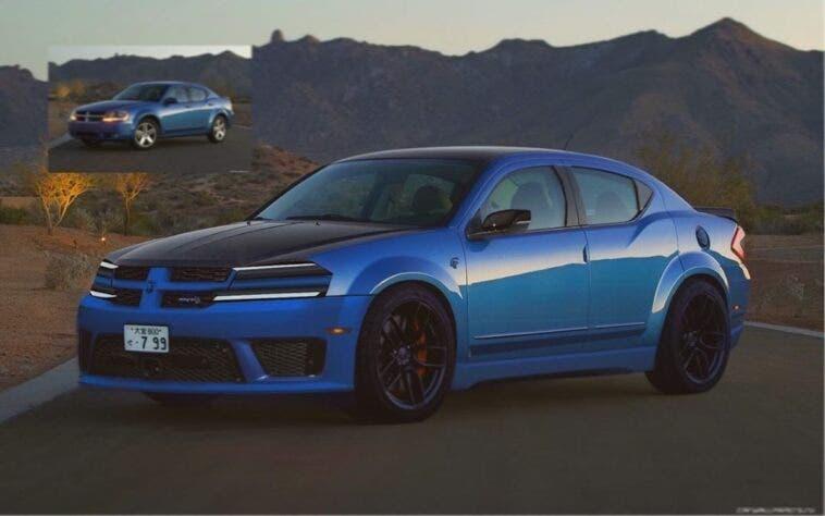 Dodge Avenger Hellcat render