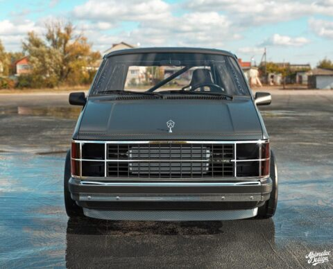 Dodge Caravan fibra di carbonio