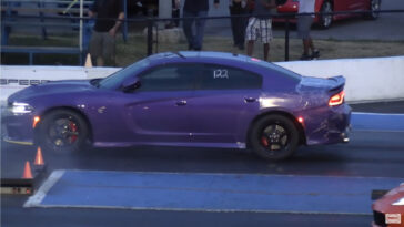 Dodge Charger SRT Hellcat drag race Wheels