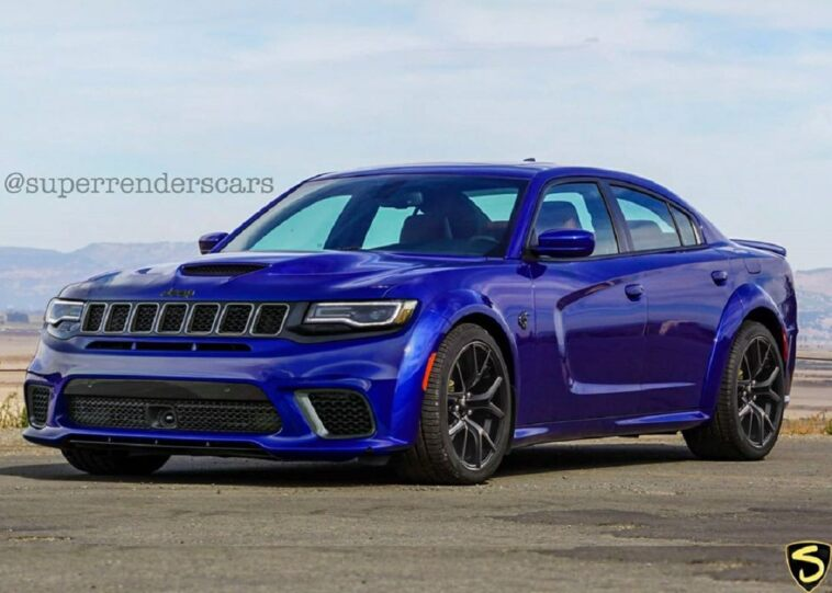 Dodge Charger frontale Grand Cherokee render
