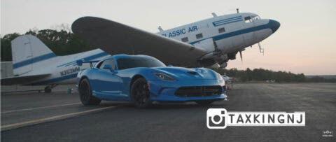 Dodge Viper TA vs Audi R8 drag race