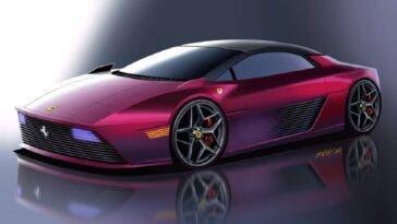 Ferrari 348 Spider moderna render