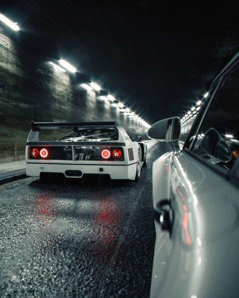 Ferrari F40 LM Porsche 959 render