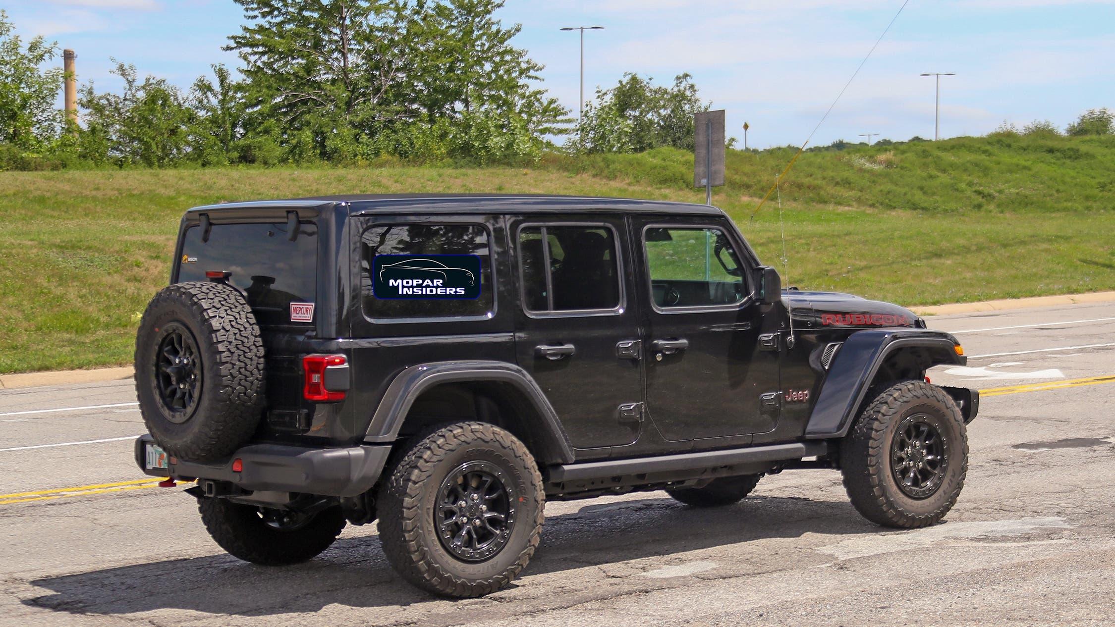 Jeep Wrangler Rubicon 392produzione foto spia