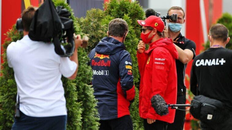Sebastian Vettel e Chris Horner