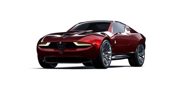Alfa Romeo Montreal muscle car render