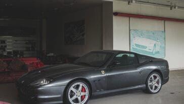 Ferrari 575 Superamerica abbandonata