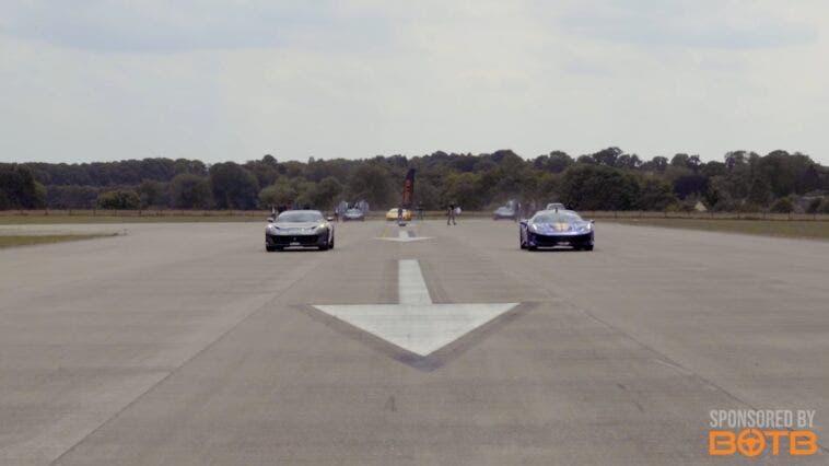 Ferrari 812 Superfast 488 Pista McLaren 720S Huracan drag race