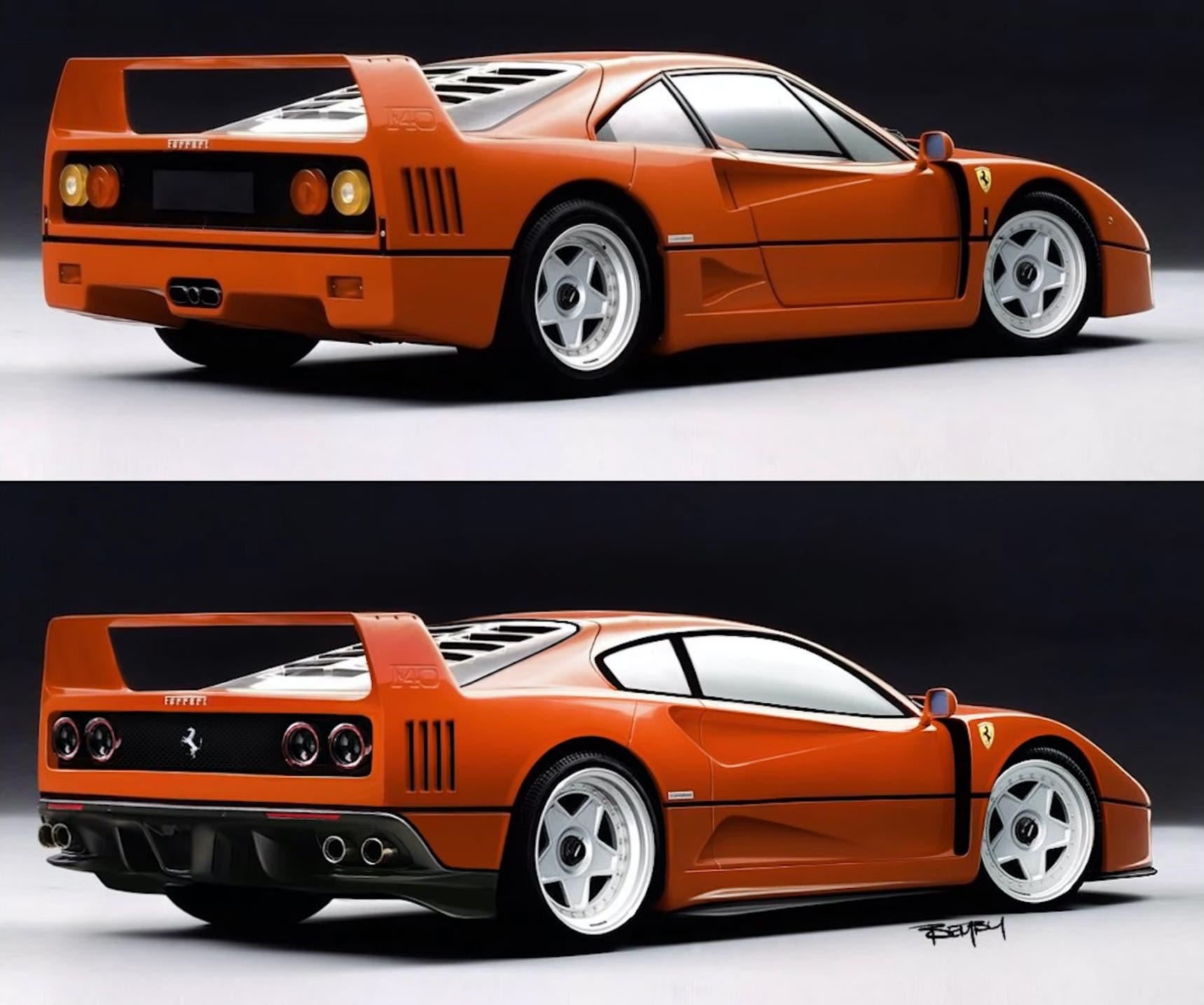 Ferrari F40 moderna