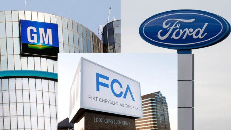 Fiat Chrysler, Ford e GM