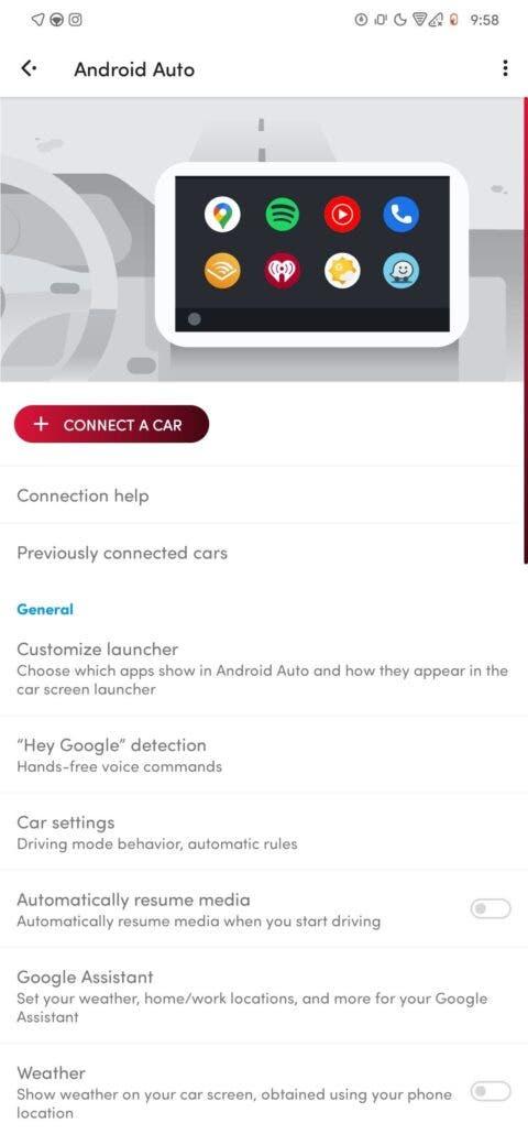 Google Android Auto nuova interfaccia impostazioni