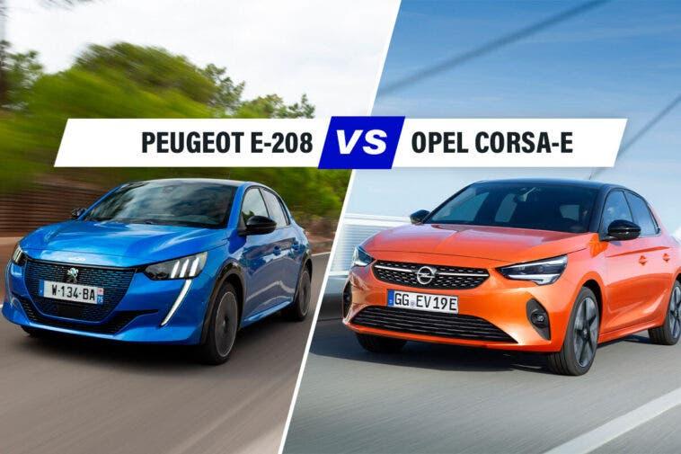 Peugeot e-208 Opel Corsa-e