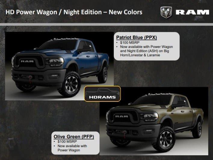Ram 2500 Power Wagon 2020 nuove colorazioni