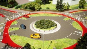 Regno Unito prima rotonda precedenza pedoni ciclisti