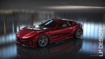 Alfa Romeo 6C Concept LP Design render