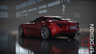 Alfa Romeo 6C Concept tre quarti posteriore render