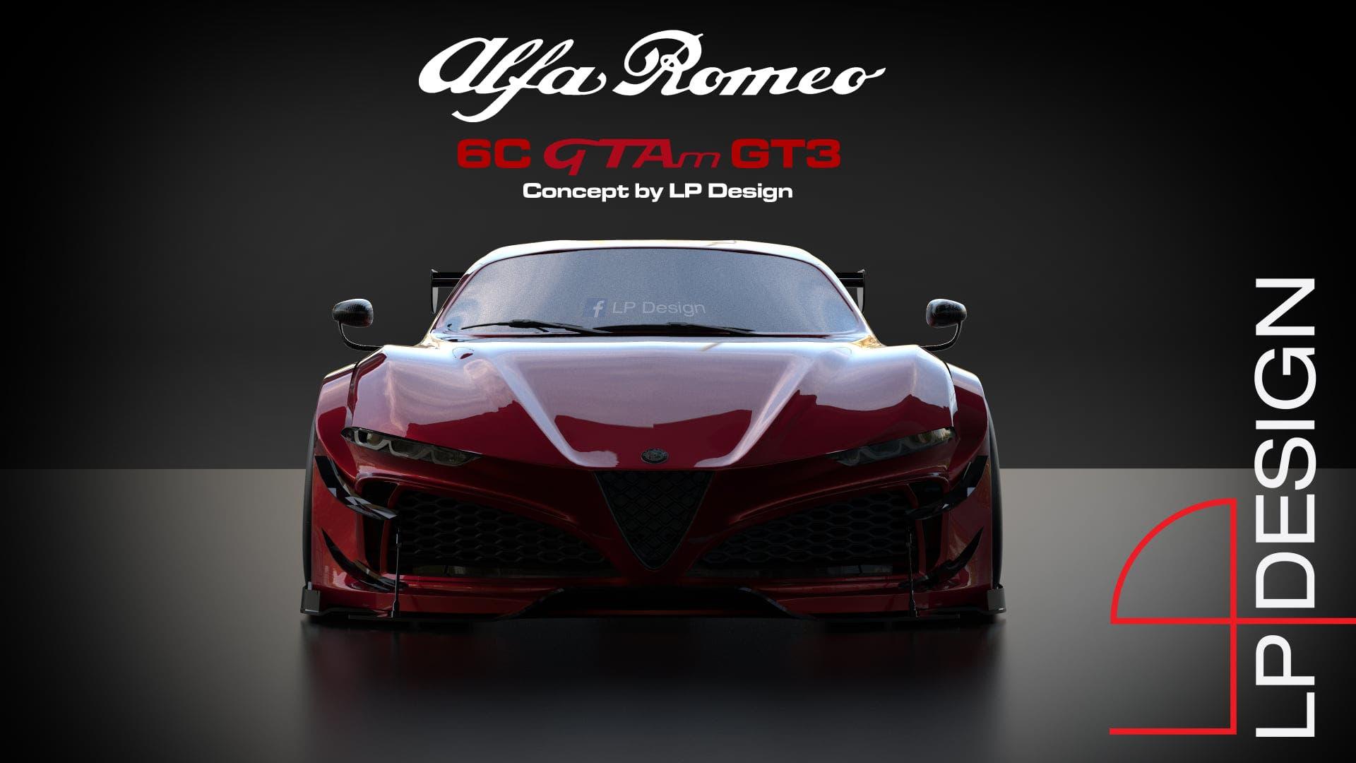 Alfa Romeo 6C GTAm GT3 render