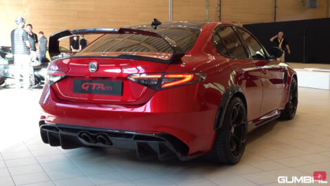 Alfa Romeo Giulia GTAm test accelerazione